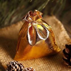 WORECZKI świąteczne metaliczne Złote do upominków 10x13cm 5szt