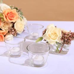 ŚWIECZNIKI szklaneczki na tealighty 4szt