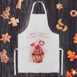 FARTUCH kuchenny na Prezent Z IMIENIEM Super Babcia