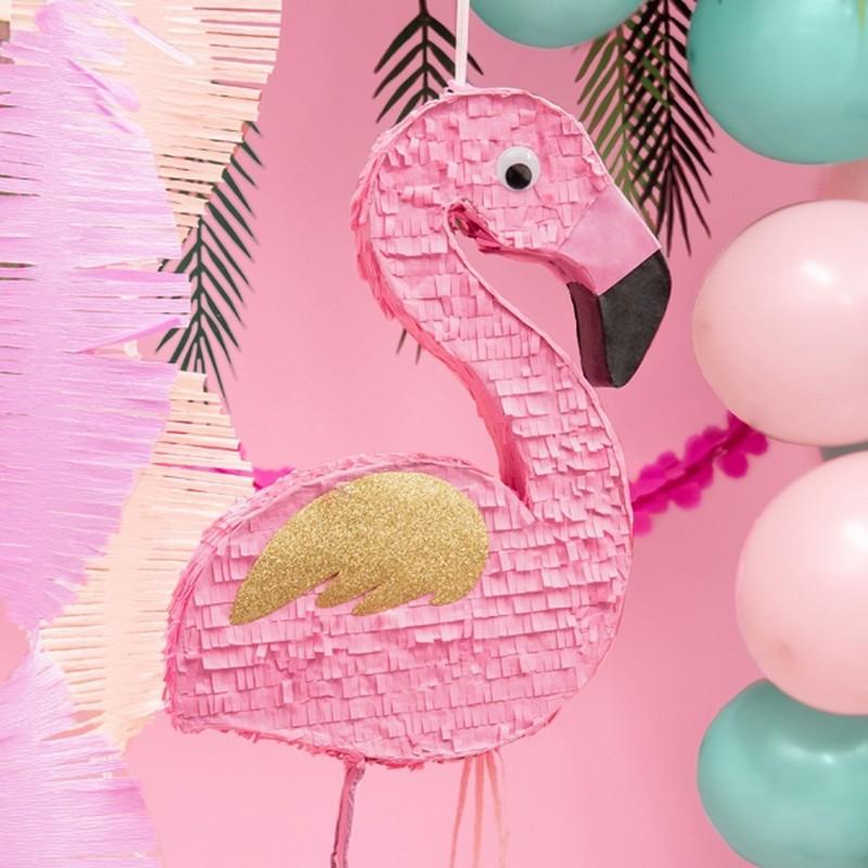 Piniata urodzinowa flaming dla dziewczynki