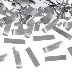 KONFETTI WYSTRZAŁOWE Sylwester metaliczne paski SREBRNE