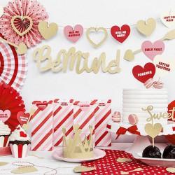BANER na Walentynki Be Mine! 11,5 x 90 cm ZŁOTY