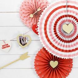 ROZETY dekoracyjne na Walentynki Sweet Love