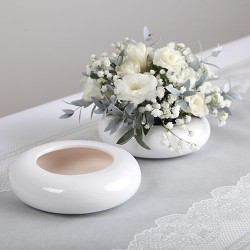MISA ceramiczna do kwiatowych aranżacji BIAŁA