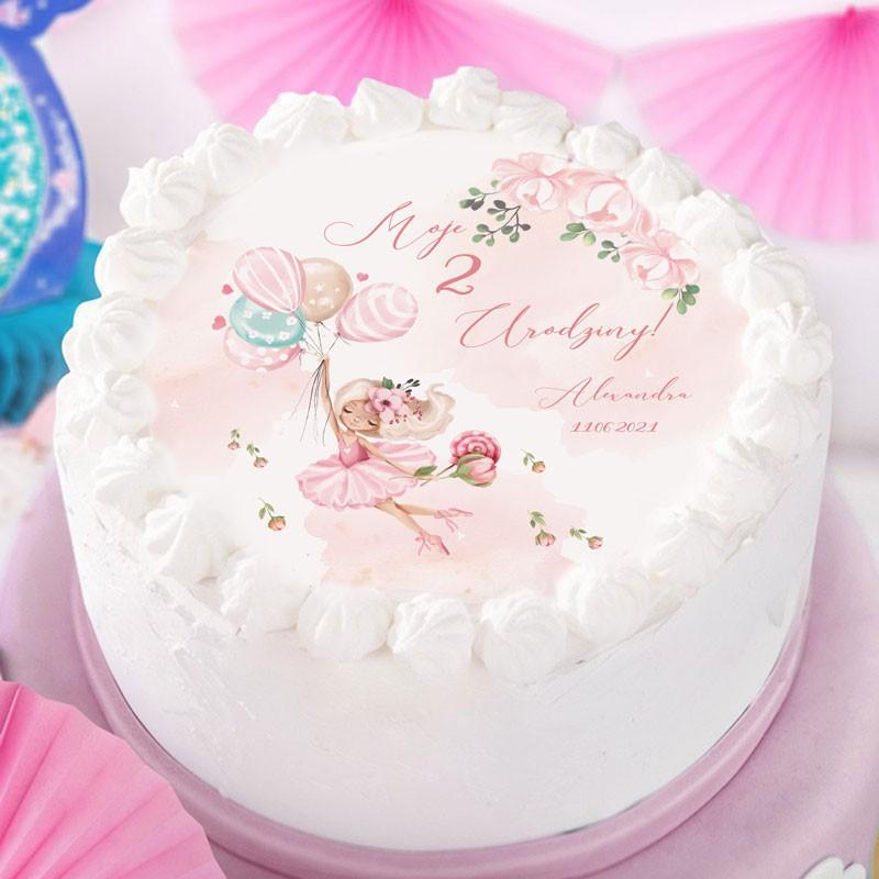 Opłatek na tort urodzinowy dziewczynki