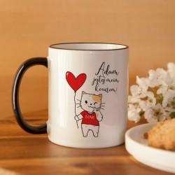 PREZENT na Walentynki kubek Z IMIENIEM Jesteś moim kocurem