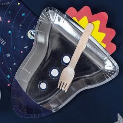 TALERZYKI papierowe Astronauta 6szt
