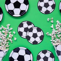 TALERZYKI papierowe Piłka nożna 6szt
