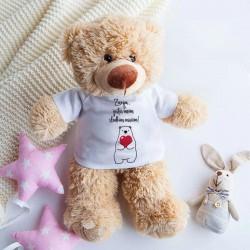 PREZENT na Walentynki maskotka Niedźwiadek 25cm Z IMIENIEM