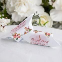 KRÓWKI podziękowanie na Roczek Rosegold Flowers Z IMIENIEM 20szt