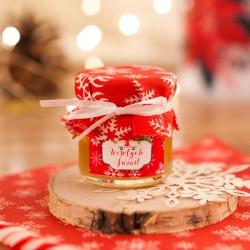 PREZENT świąteczny miód w słoiczku Czerwone Święta