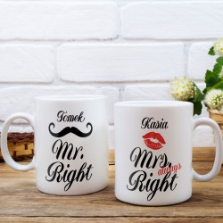 KUBKI prezent na Walentynki dla par Z IMIONAMI Always Right