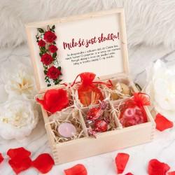 PREZENT na Walentynki skrzyneczka Miłość jest słodka UNIWERSALNA