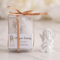 ANIOŁEK na upominek Chrzest w pudełeczku Z IMIENIEM Anioł Stróż
