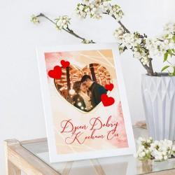 PREZENT na Walentynki rama ze zdjęciem Serduszka