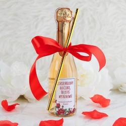 WINO MUSUJĄCE na Walentynki Z IMIENIEM 200ml Miłosny Eliksir (+słomka+wstążka)