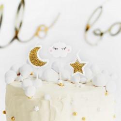 ŚWIECZKI na tort urodzinowy Chmurka i Gwiazdka 5szt