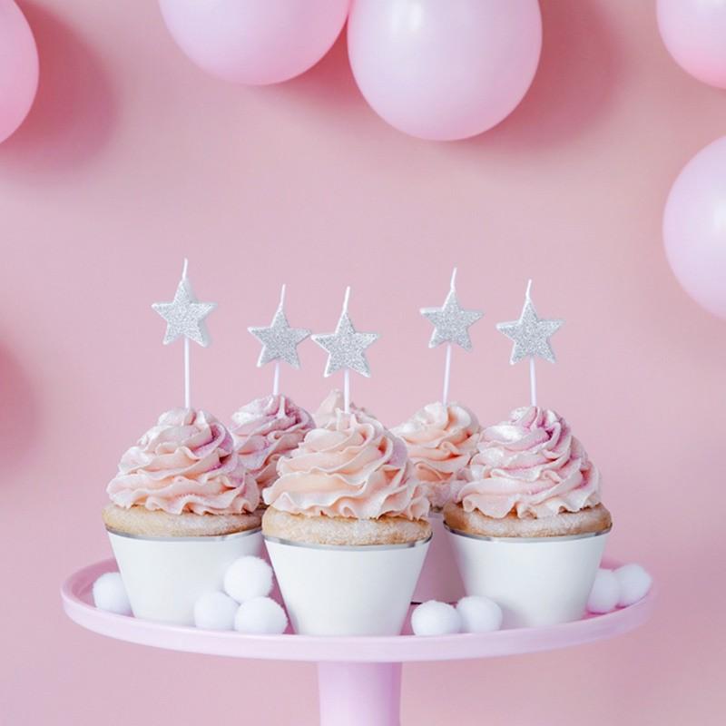 Świeczki na tort urodzinowy gwiazdki