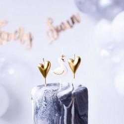 ŚWIECZKI na tort urodzinowe Łabędź 6szt