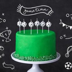 ŚWIECZKI na tort urodzinowe Piłka nożna 6szt