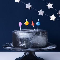 ŚWIECZKI na tort urodzinowe Astronauta 4szt