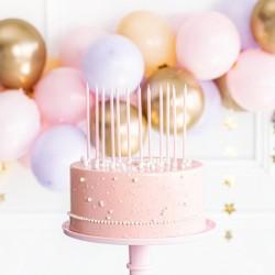ŚWIECZKI na tort urodzinowy Wysokie 14cm JASNORÓŻOWE 12szt