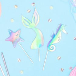 KARTECZKI na piku Syrenka Magical Mermaid 6szt