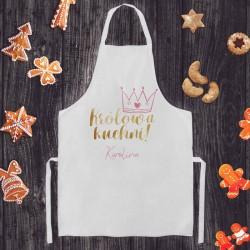 FARTUCH kuchenny na Prezent dla Kobiety Z IMIENIEM Królowa Kuchni