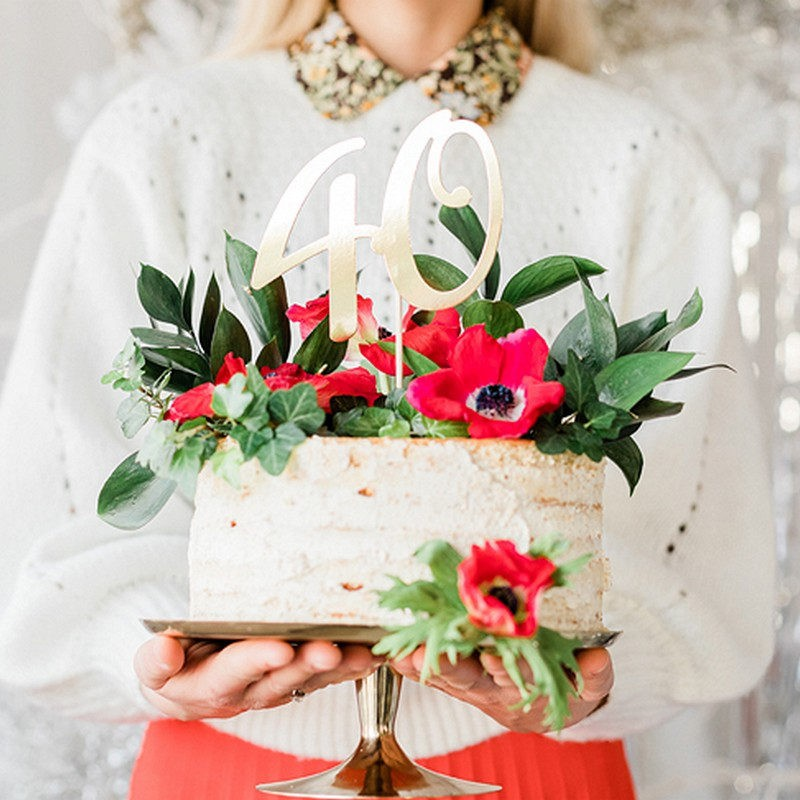 Topper na tort na 40 urodziny