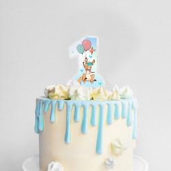ŚWIECZKA na tort na Roczek Kangurek