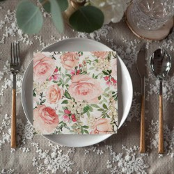 SERWETKI papierowe Róże Vintage 33x33cm 20szt