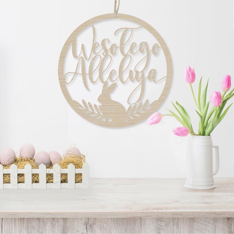 Drewniana obręcz na Wielkanoc