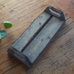 PODSTAWKA drewniana z uchwytami na świece 32cm