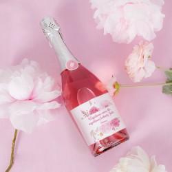 PREZENT dla Kobiety wino musujące Z IMIENIEM Kwiatowe