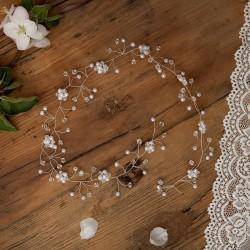 GAŁĄZKA komunijna do włosów Perłowe Kwiatki (013)