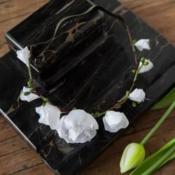 OPASKA komunijna na gumce Białe Kwiaty (094)