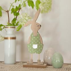 DEKORACJA na Wielkanoc drewniany Zajączek na podstawce 30cm