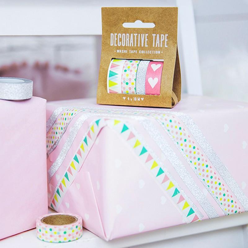 Samoprzylepne tasiemki do pakowania prezentów
