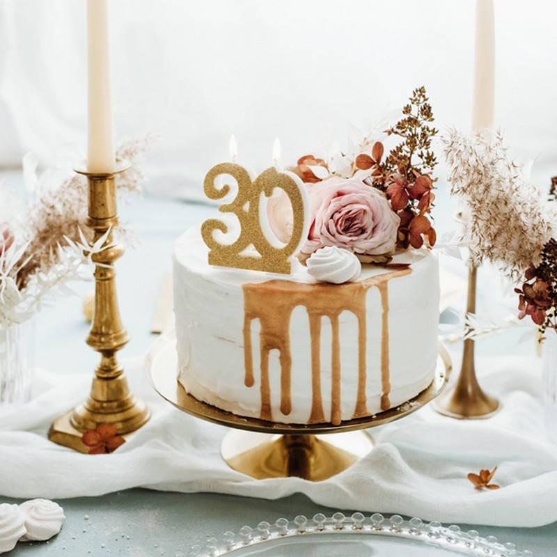 Świeczki na tort na 30 urodziny