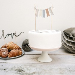TOPPER na tort na urodziny Girlanda 20cm PASTELOWA