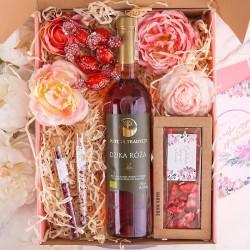 PREZENT dla Mamy Z PODPISEM Wino i czekolada MEGA DUŻY