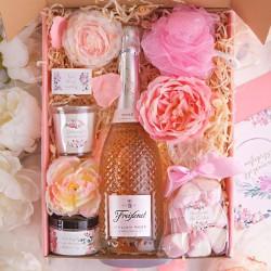 PREZENT dla Mamy Z PODPISEM Wino kryształowe Róż MEGA LUX
