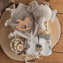 PREZENT na narodziny/Baby Shower Z PODPISEM Szczęśliwe Dzieciństwo