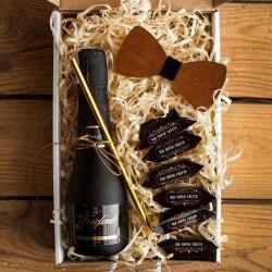 PROŚBA o bycie Świadkiem pudełko Z IMIENIEM Wino i mucha