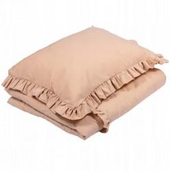 POŚCIEL do łóżeczka z falbanką 100x135cm Beżowy