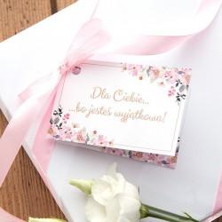 BILECIK do prezentu na wpisanie życzeń Kwiaty