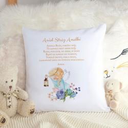 PREZENT dla dziecka poduszka z modlitwą Z IMIENIEM Aniołek