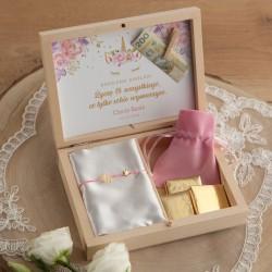 PREZENT dla dziewczynki w pudełku IMIĘ Bransoletka Jednorożec POZŁACANA +klamerka