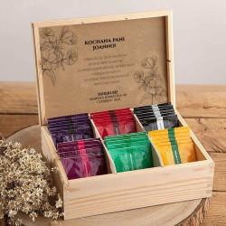 PREZENT dla nauczyciela Z PODPISEM Herbaciarka 36 herbat