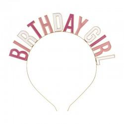 OPASKA na urodziny Birthday Girl Różowa
